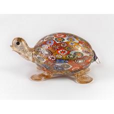 Фигурка черепаха миллефиори  из муранского стекла