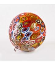 Новогодний шар миллефори из муранского стекла