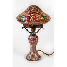 Лампа настольная гриб из муранского стекла