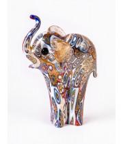 Фигурка Слон миллефиори из Муранского стекла