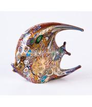 Фигурка рыбка плоская из муранского стекла