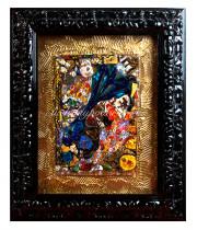 Панно Абстракция в черной раме муранское стекло