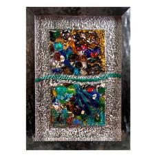 Панно двойное Абстракция из Муранского стекла