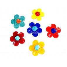 Брошь Цветок FIORE из муранского стекла