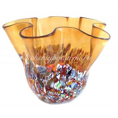 Ваза Фацалетто с мурринами из Муранского стекла