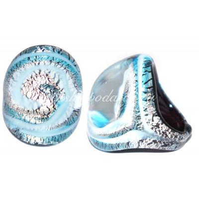 Кольцо Sasso камушек из муранского стекла