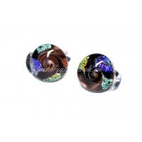 Клипсы круглые Decroico из муранского стекла